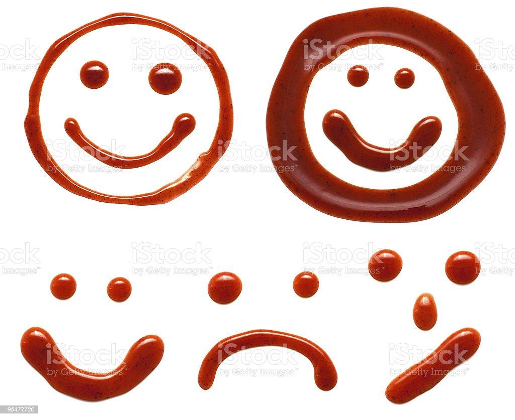 ketchup smiles stock photo