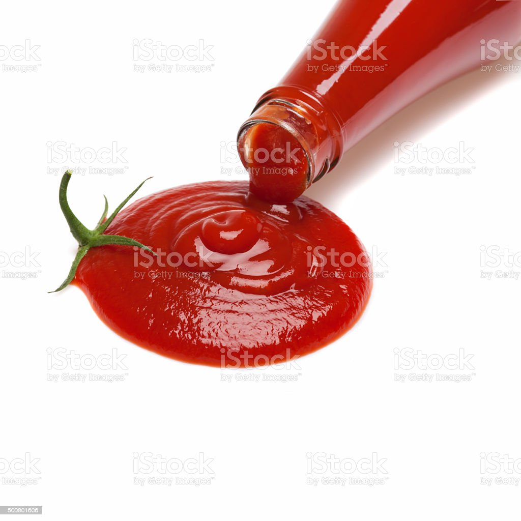 Ketchup tomato stock photo