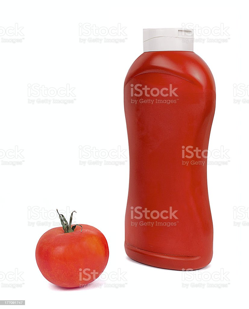 Ketchup, tomato sauce isolated on white background. royalty-free stock photo
