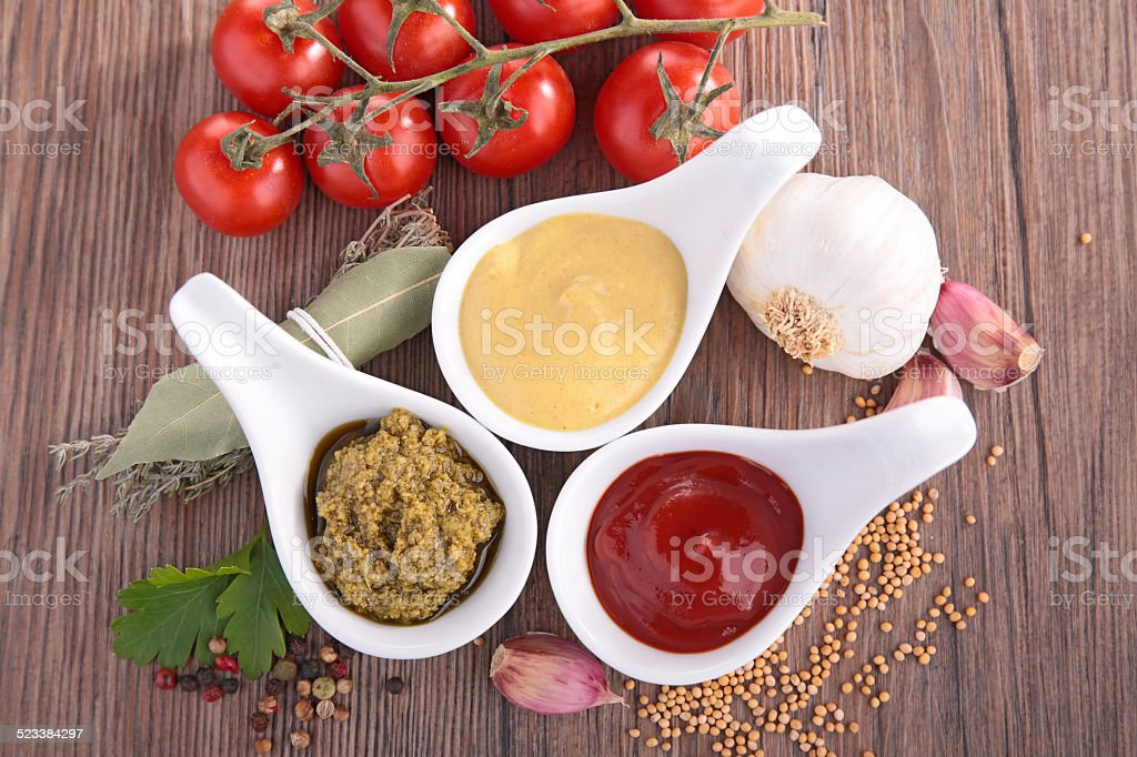 ketchup,mayo and mustard stock photo