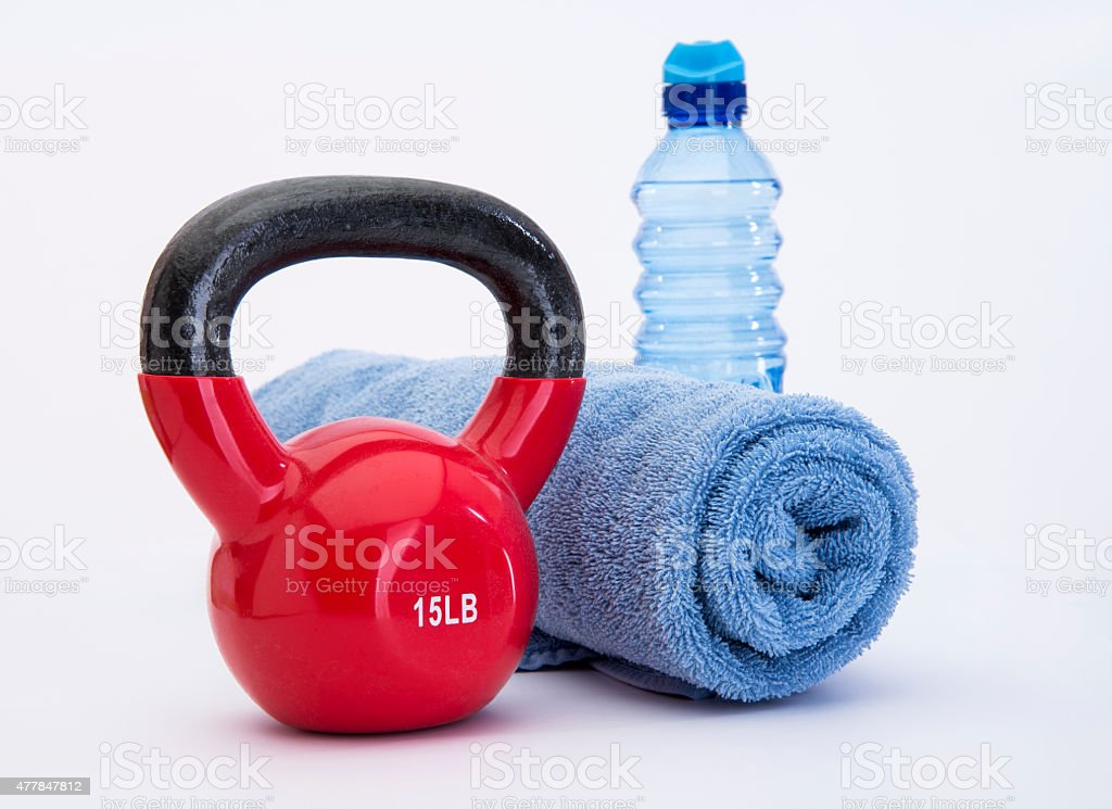 Kettle Ball Workout stock photo