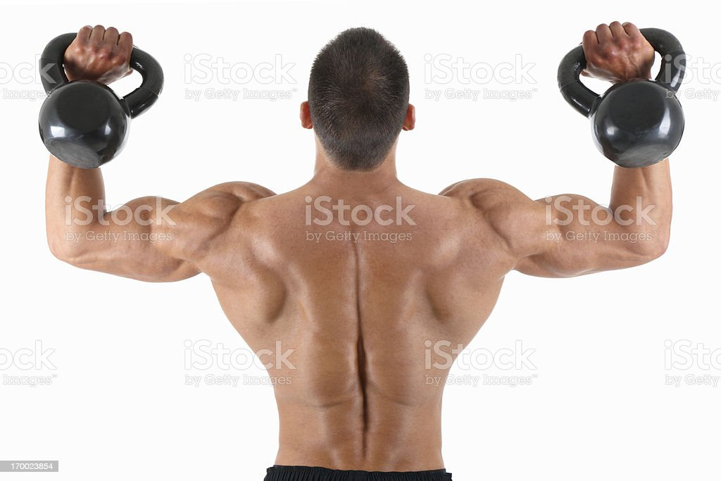 Kettle bell exercise royalty-free stock photo