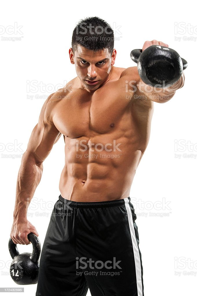 Kettle bell Workout royalty-free stock photo