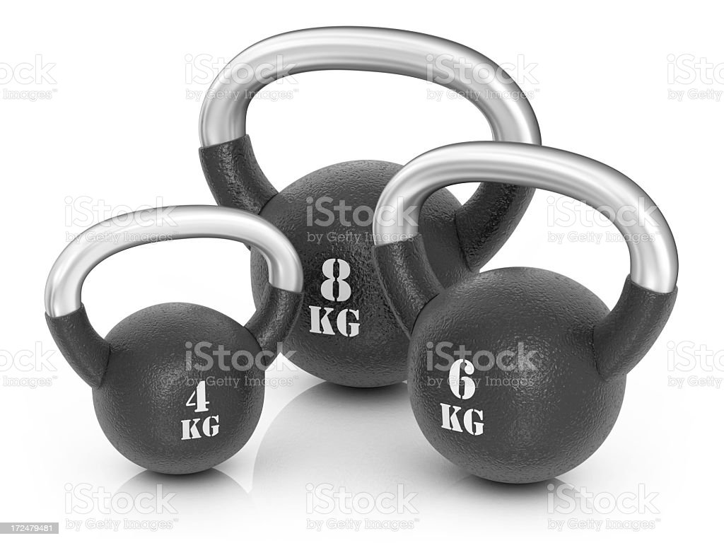 Kettle Bells royalty-free stock photo