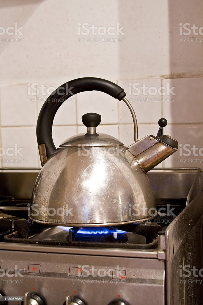 Kettle boiling royalty-free stock photo