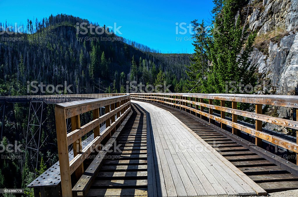 Kettle Valley Railway trestle stock photo