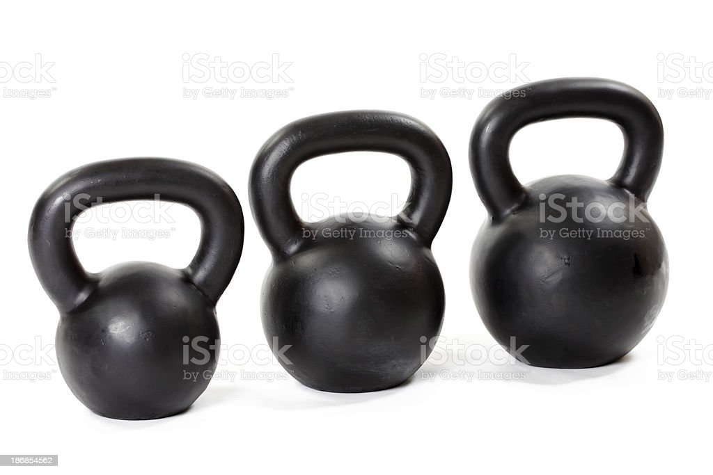 Kettlebell Weight Set royalty-free stock photo