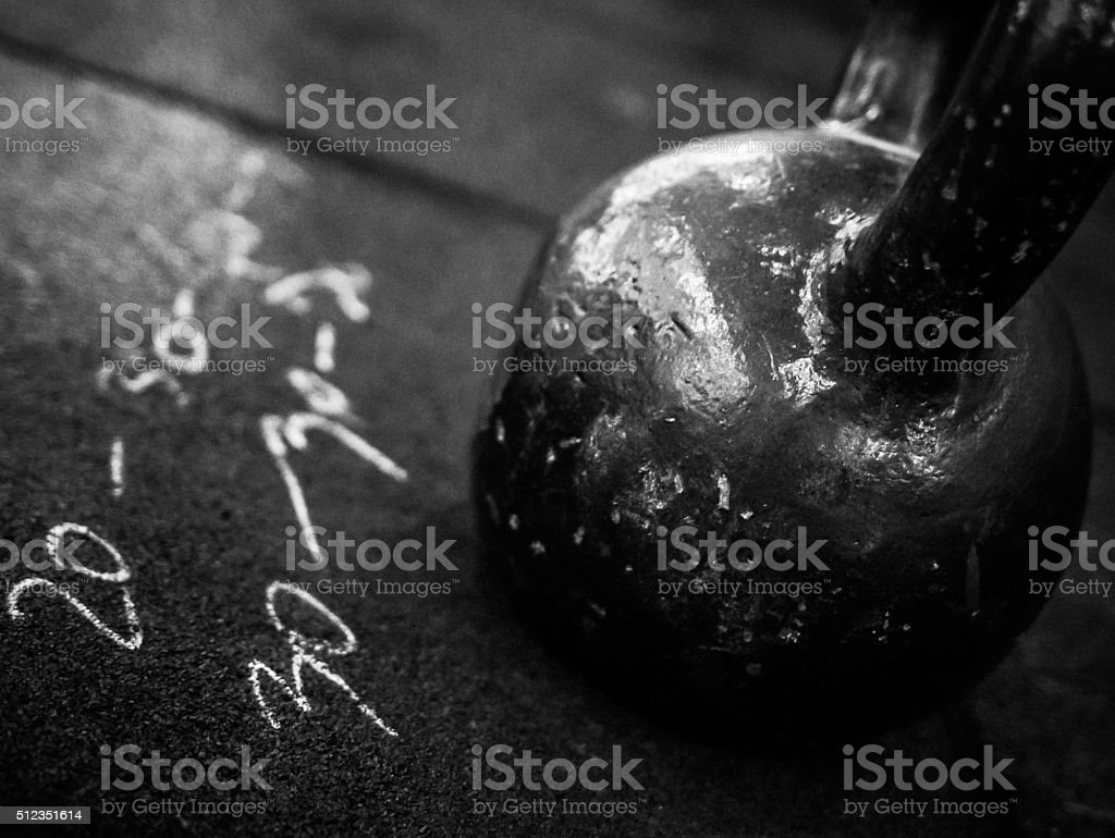 Kettlebell Workout stock photo