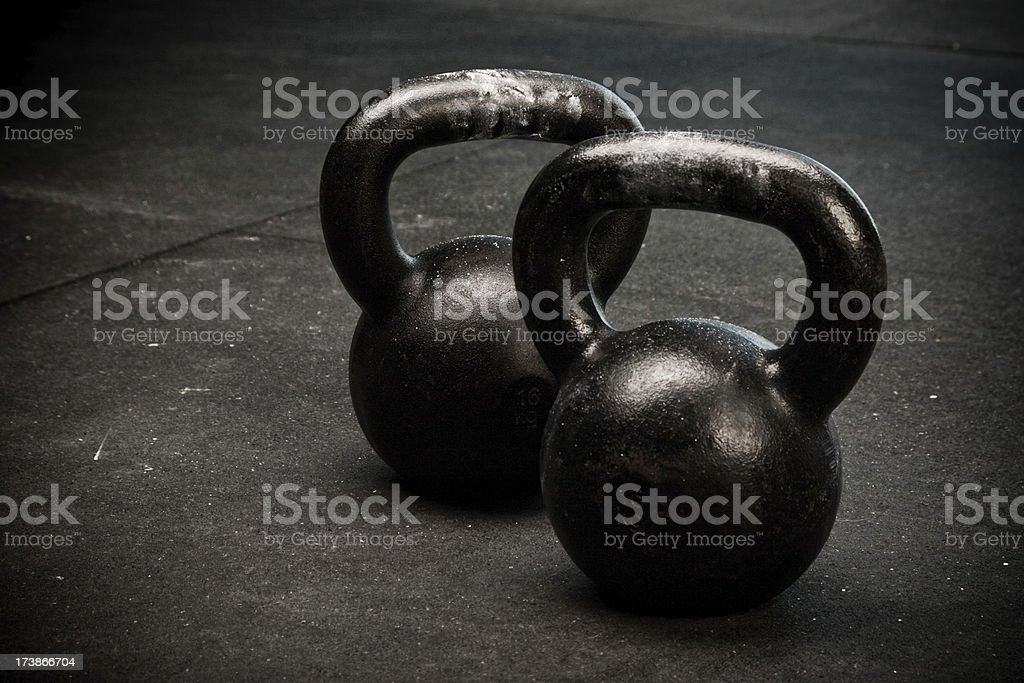 Kettlebells royalty-free stock photo