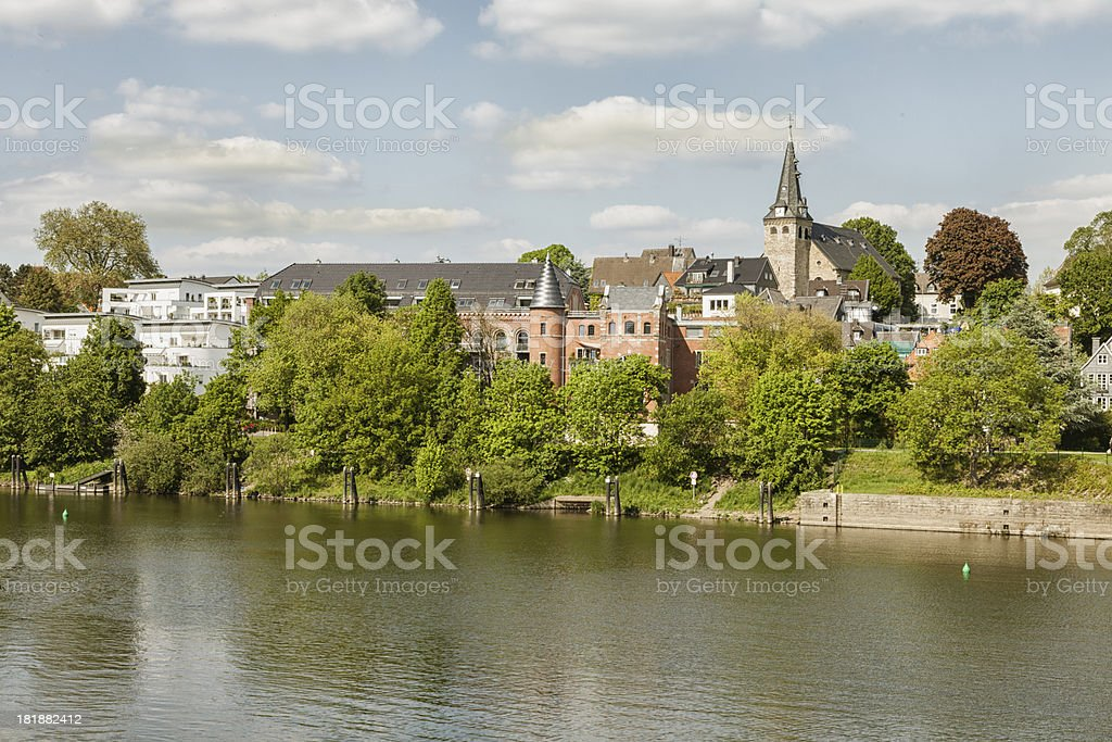 Kettwig at river Ruhr stock photo