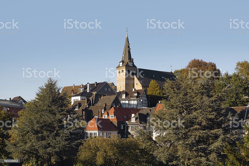 Kettwig at Ruhr in autumn stock photo