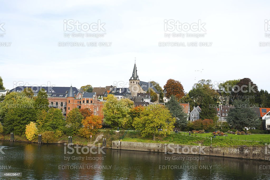 Kettwig in autumn stock photo