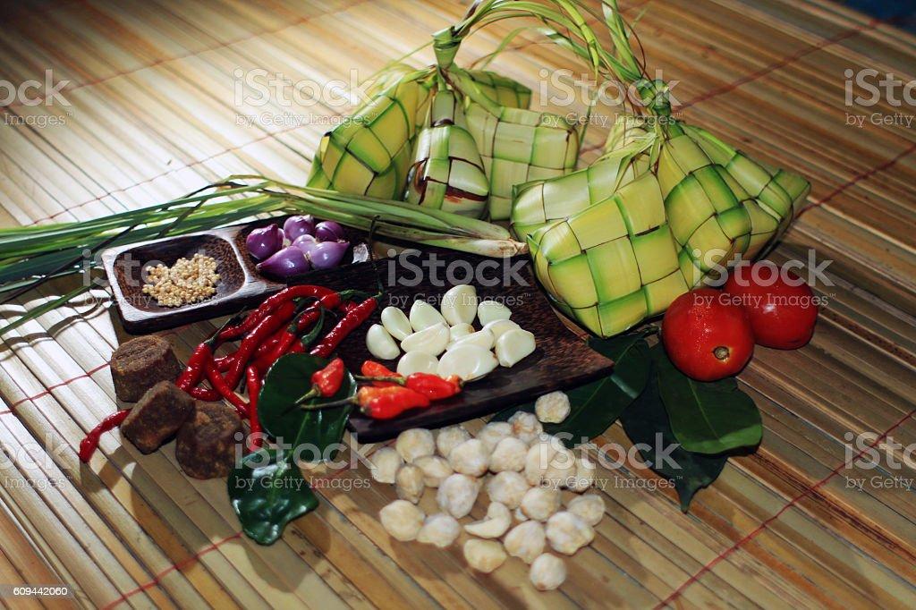 Ketupat Eid El Fitr stock photo