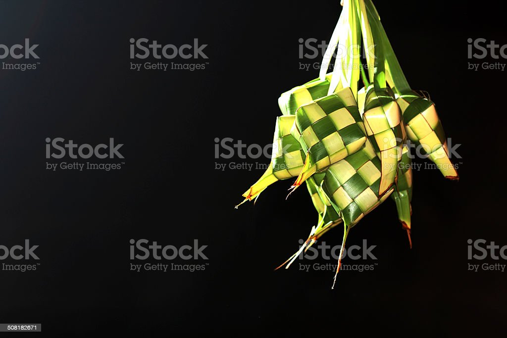 Ketupat for greeting card stock photo