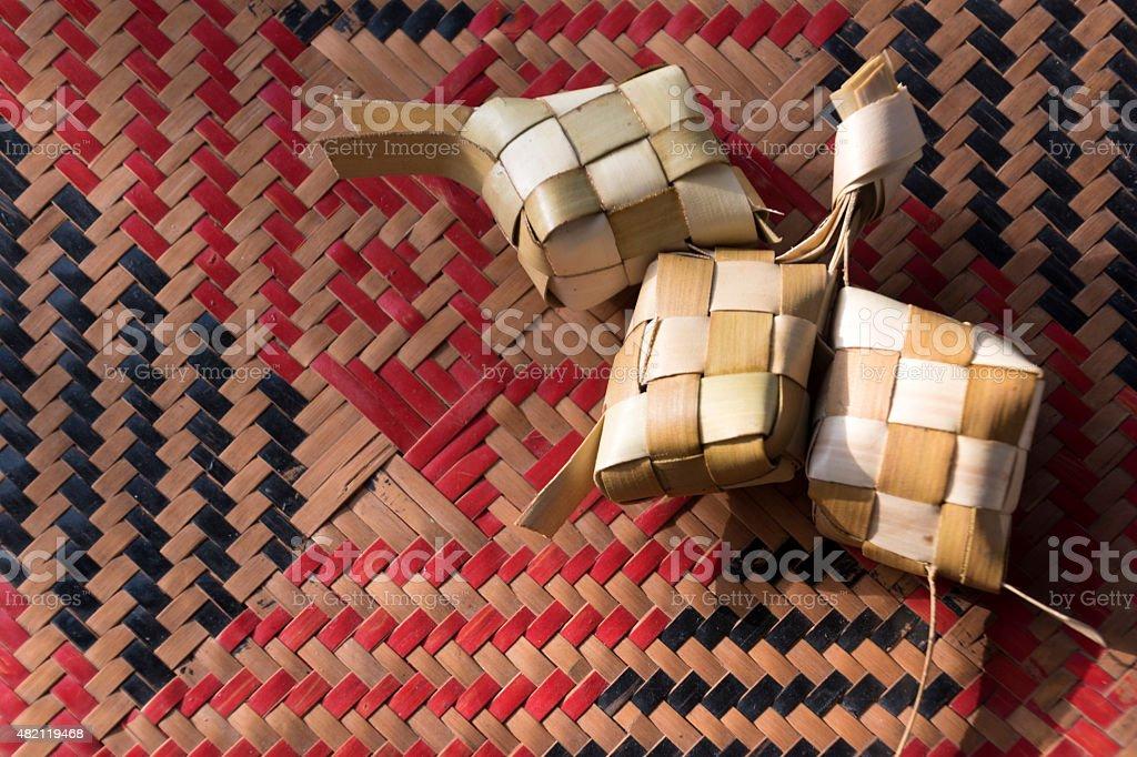 Ketupat Rice Dumpling stock photo