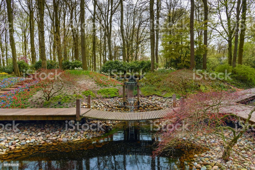 Keukenhof Gardens in the Netherlands stock photo