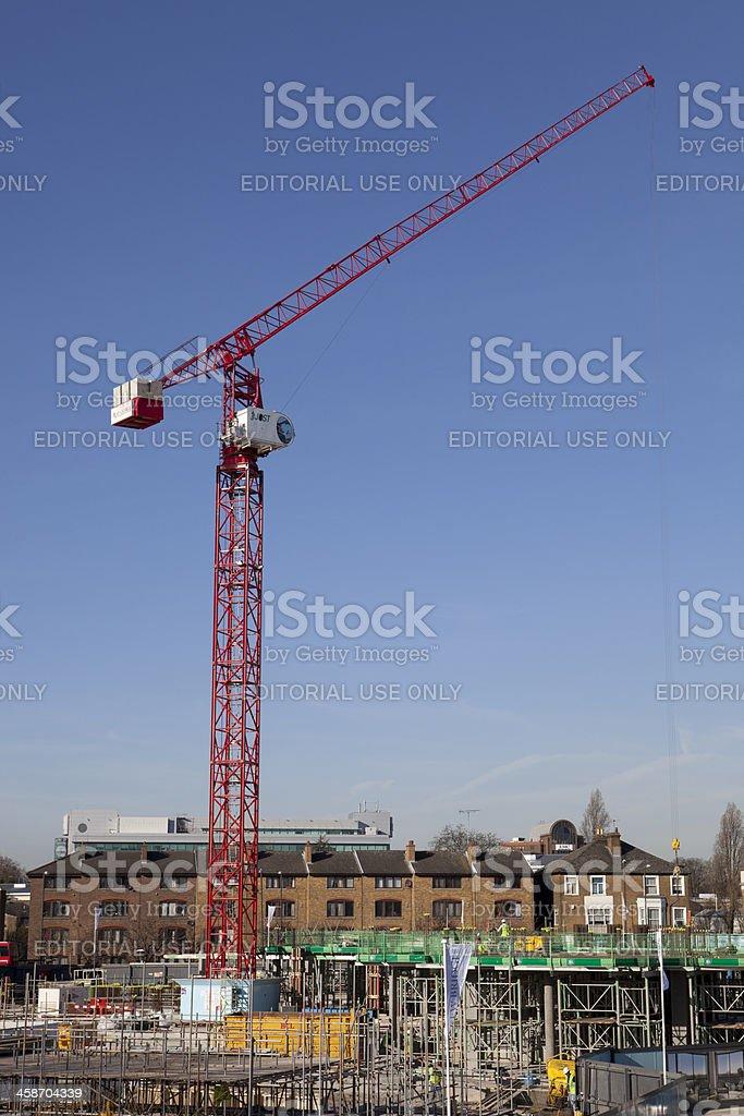 Kew Bridge, London, UK - 8th Feb 2011: Construction Site royalty-free stock photo