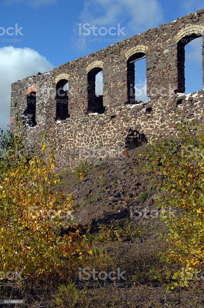 Keweenaw Historical Park Ruins stock photo
