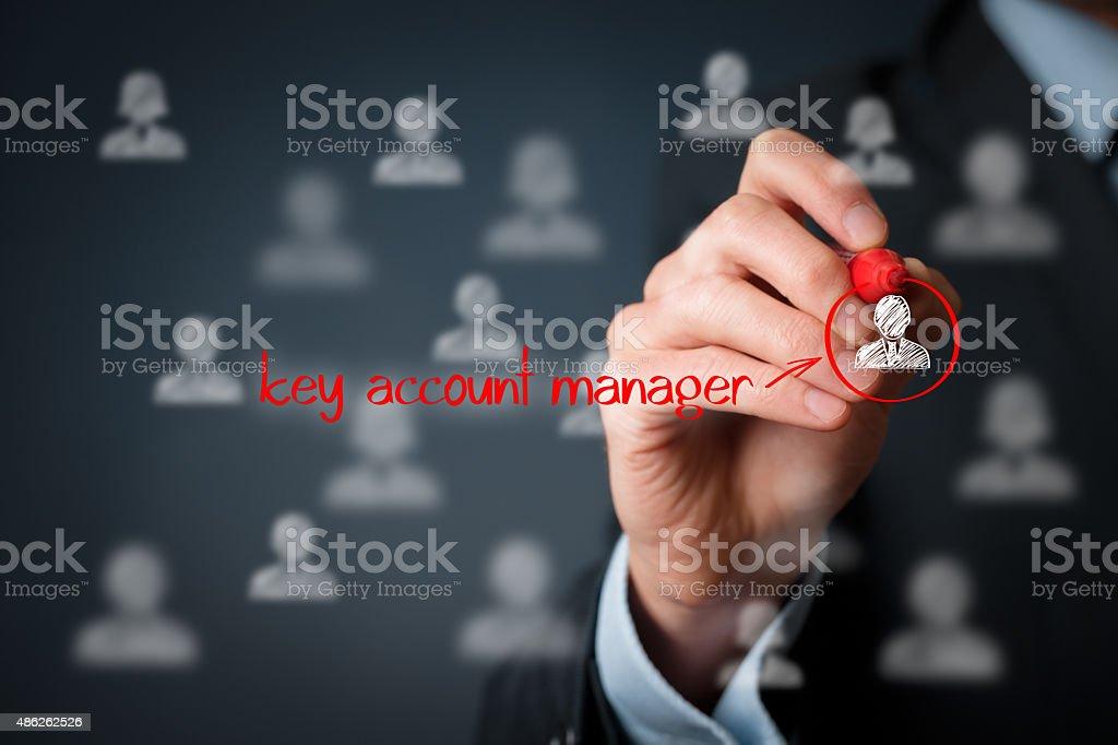 Key account manager stock photo