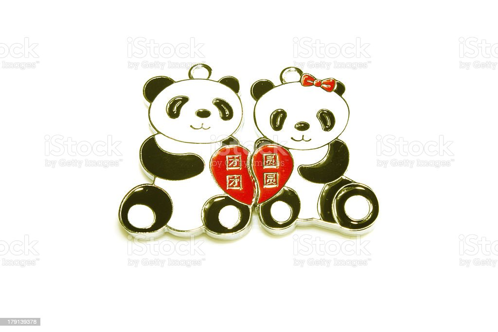 key adornment of the panda modelling stock photo