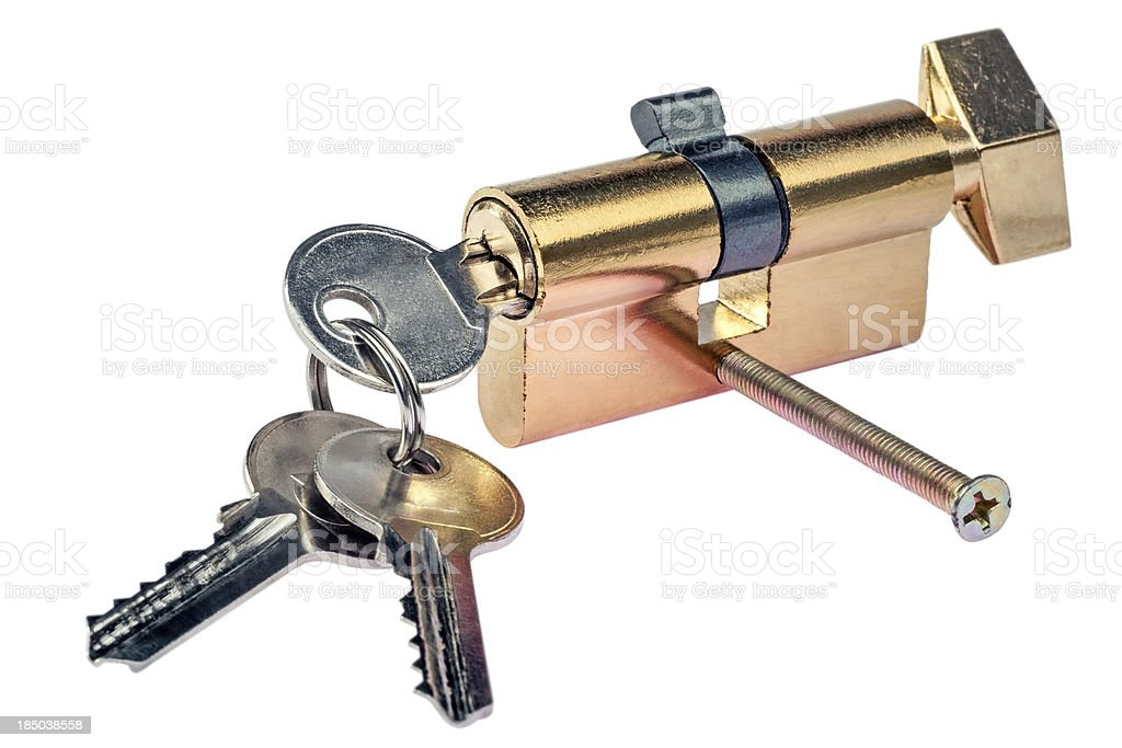 Key and door lock stock photo