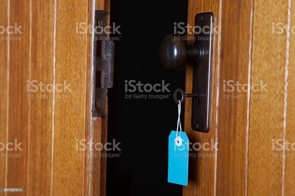 Key and door stock photo