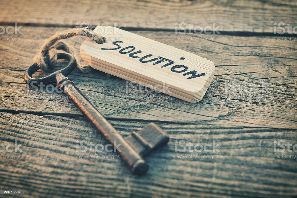 Key and label stock photo