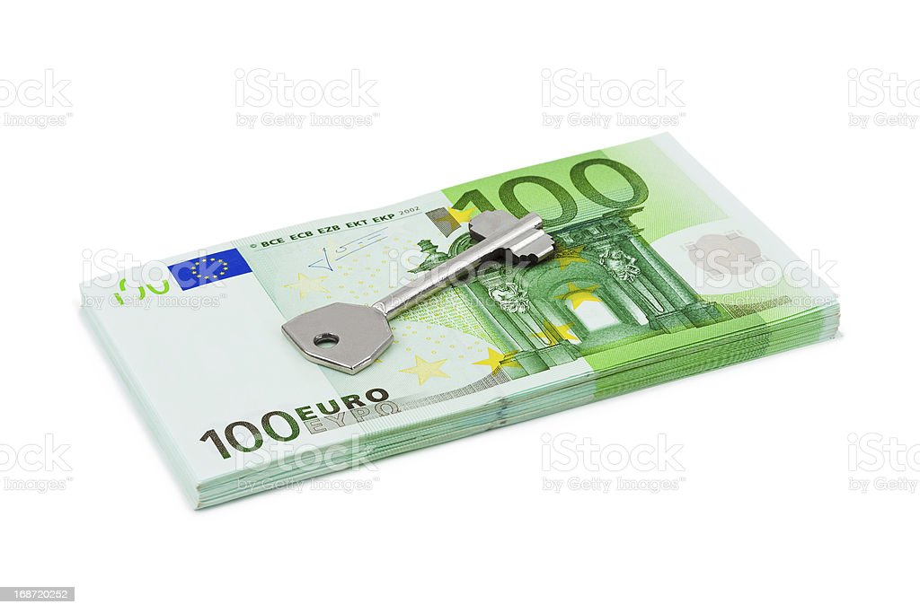 Key and money royalty-free stock photo