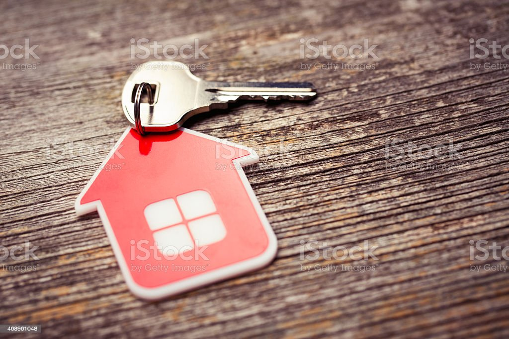 Key and Red House stock photo