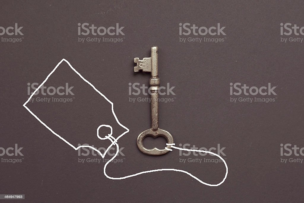 Key and Tag stock photo