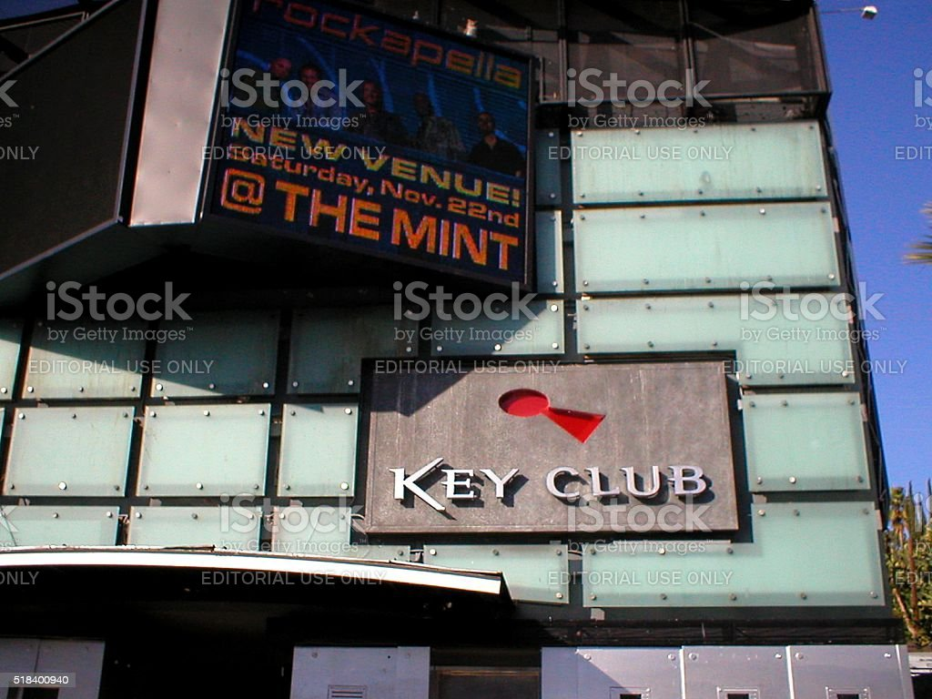 Key Club on the Sunset Strip, Hollywood, California stock photo