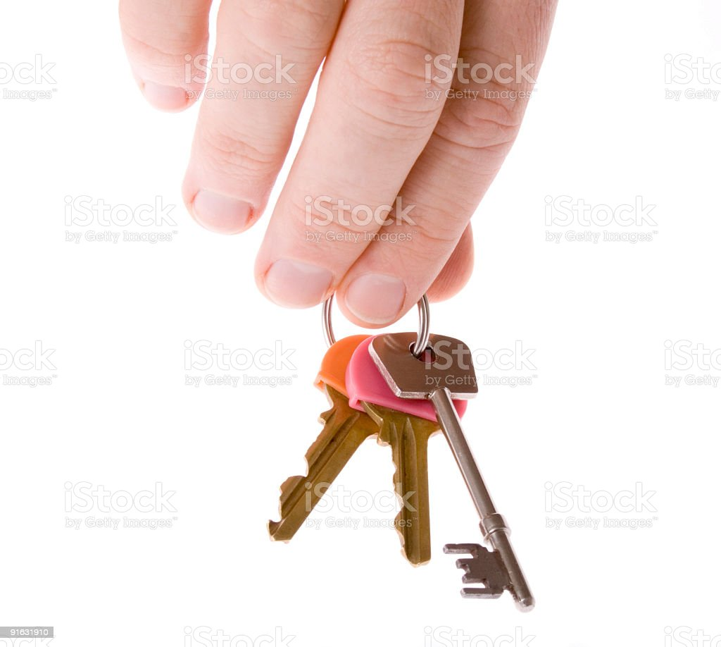 Key drop off stock photo