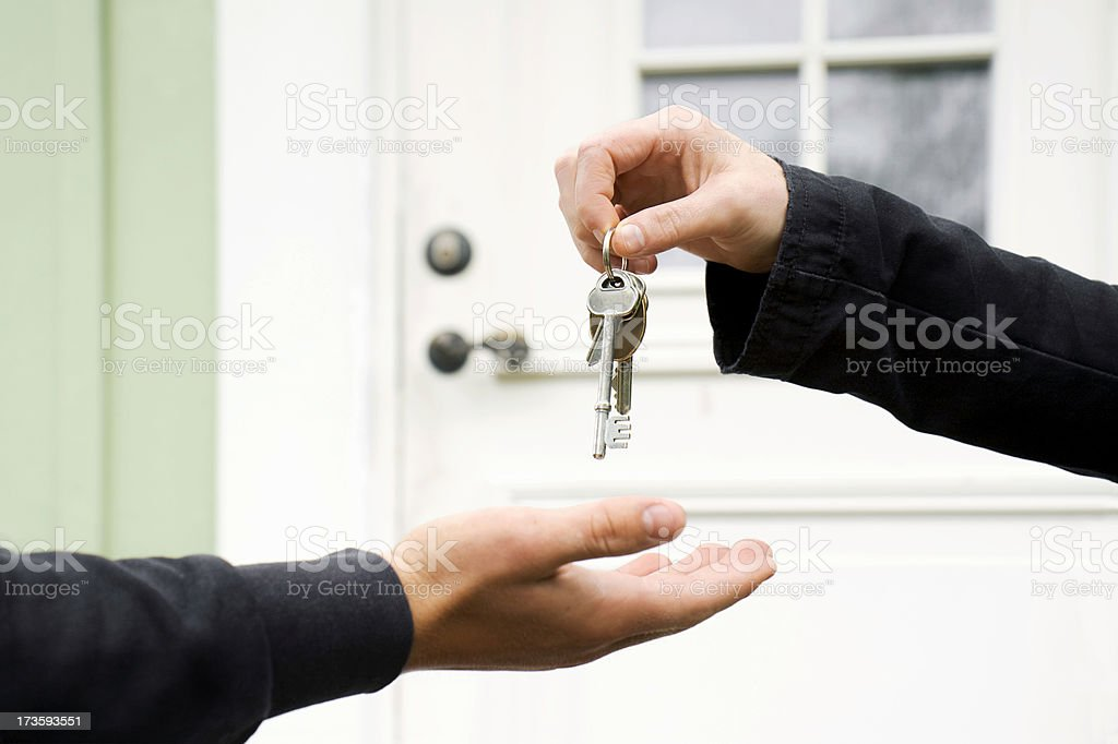 Key exchange stock photo