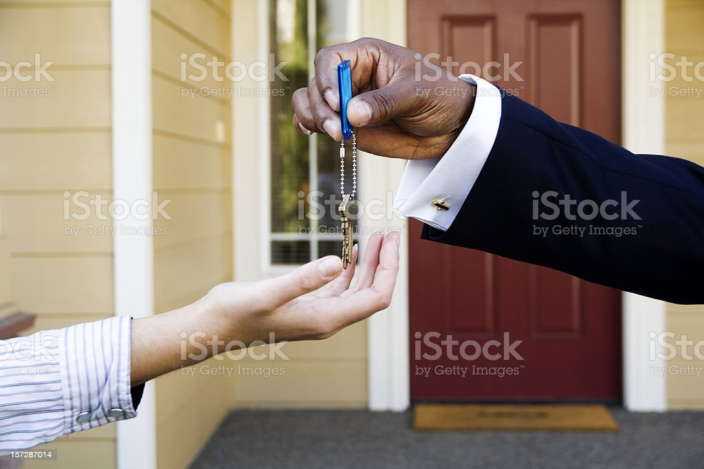 Key Exchanges Hands royalty-free stock photo
