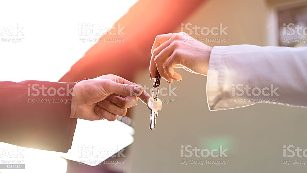 Key for new house stock photo