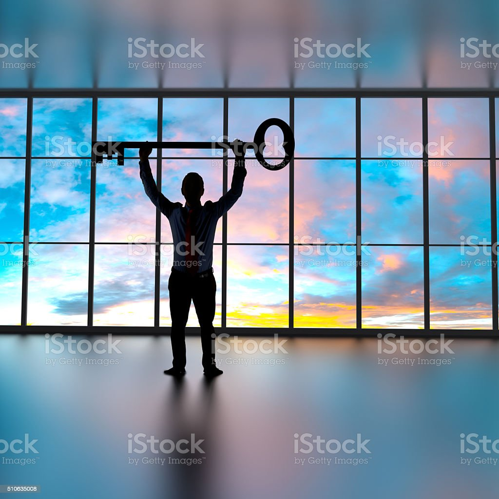 Key for success stock photo