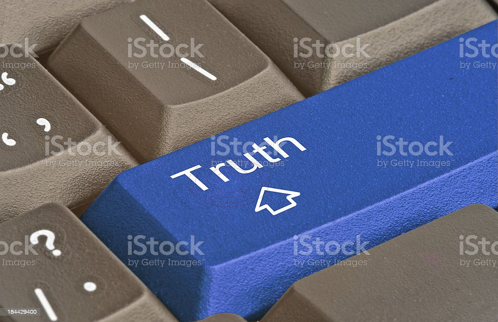 Key for truth stock photo