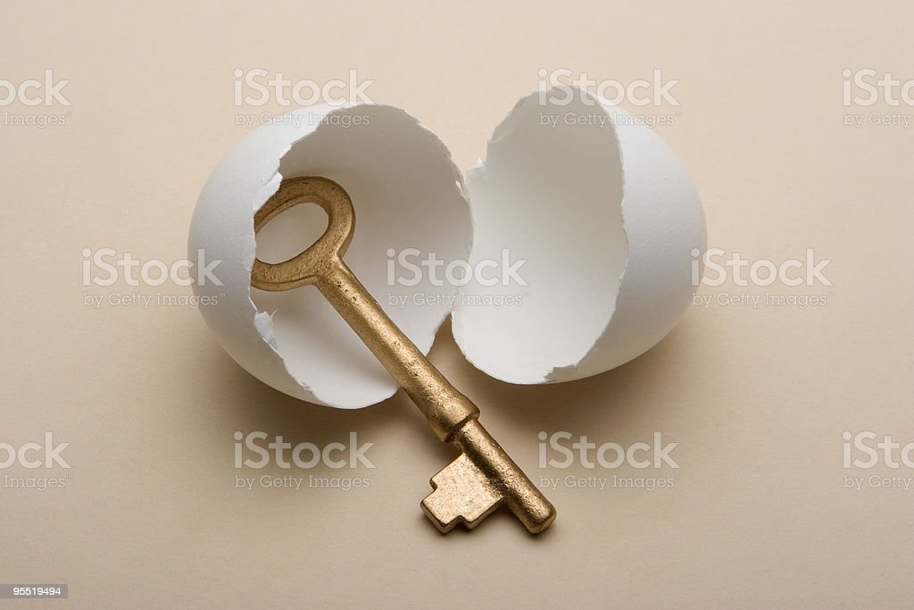 key in egg royalty-free stock photo