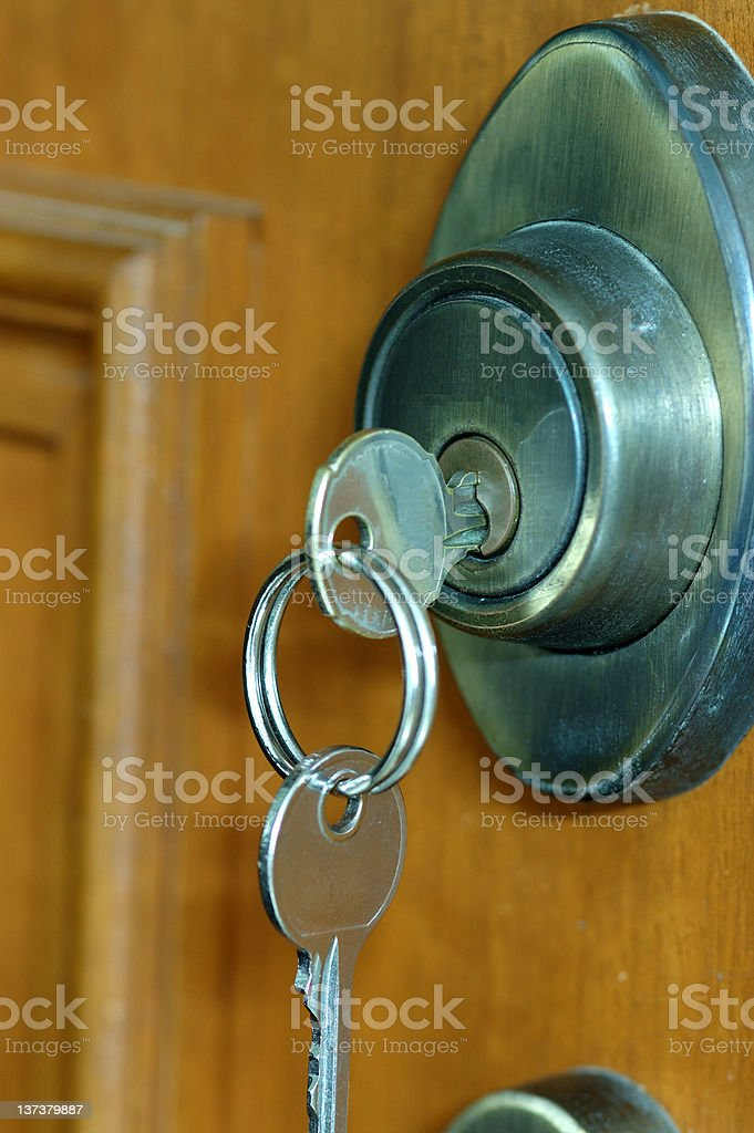 Key in Keyhole royalty-free stock photo