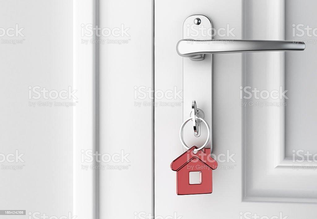 key in the door stock photo