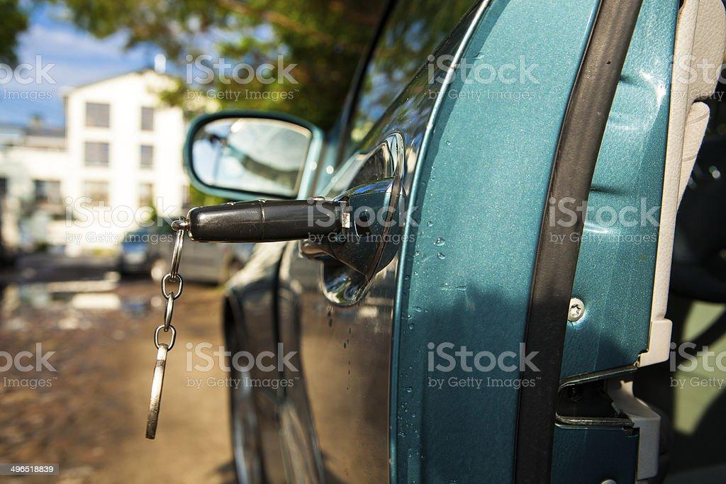 Key inlock car doors royalty-free stock photo