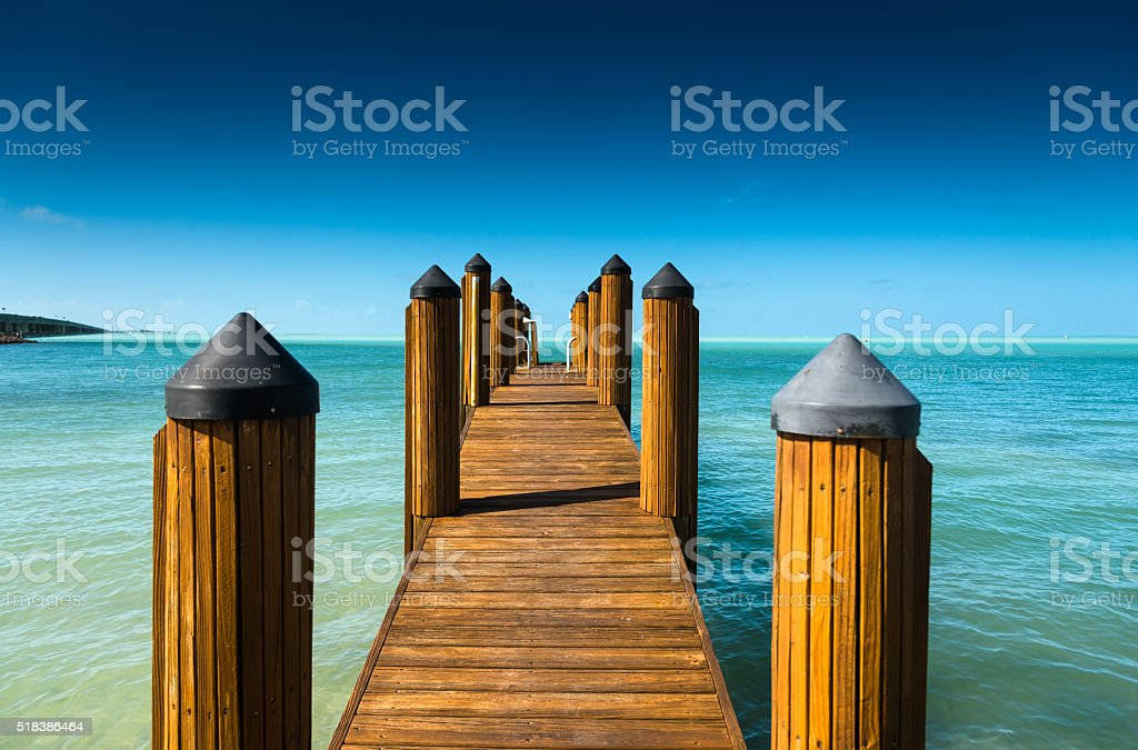 key largo bridge for the florida keys stock photo