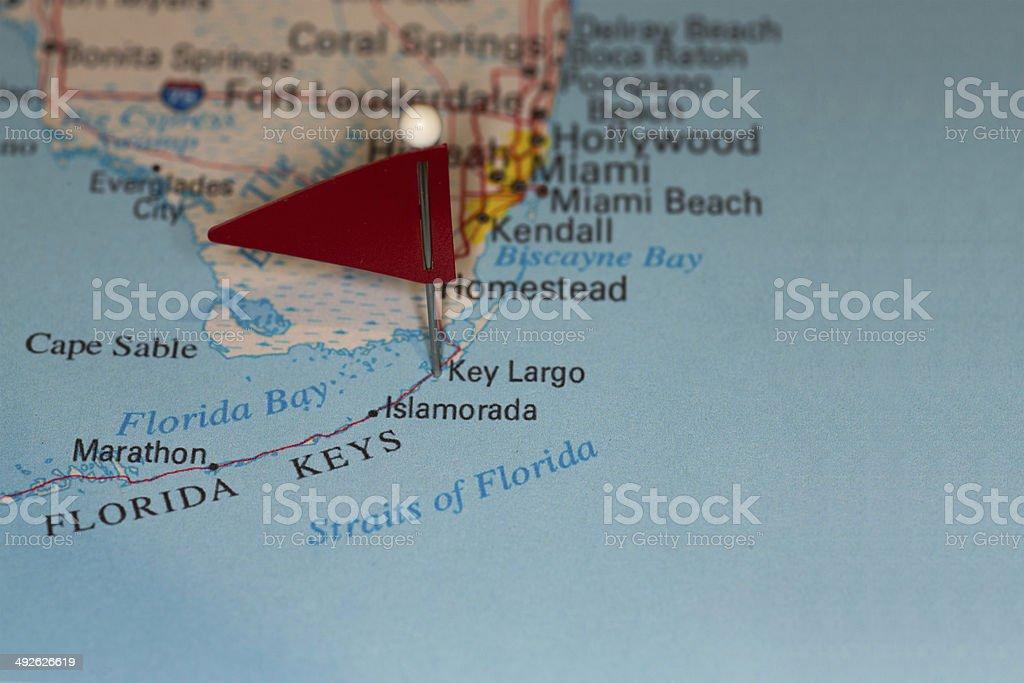 Key Largo, FL, USA - Cities on Map Series stock photo