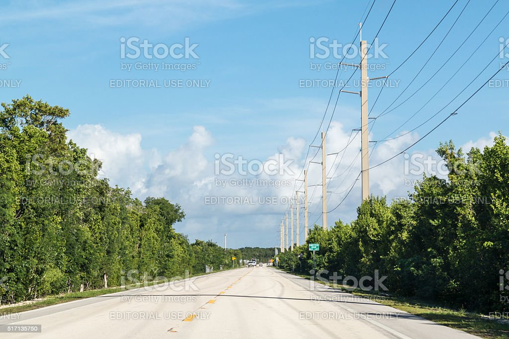 Key Largo road, Florida Keys, USA stock photo