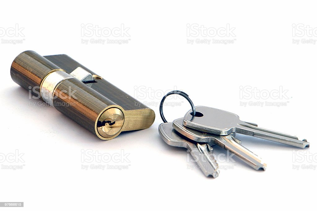 key & lock royalty-free stock photo