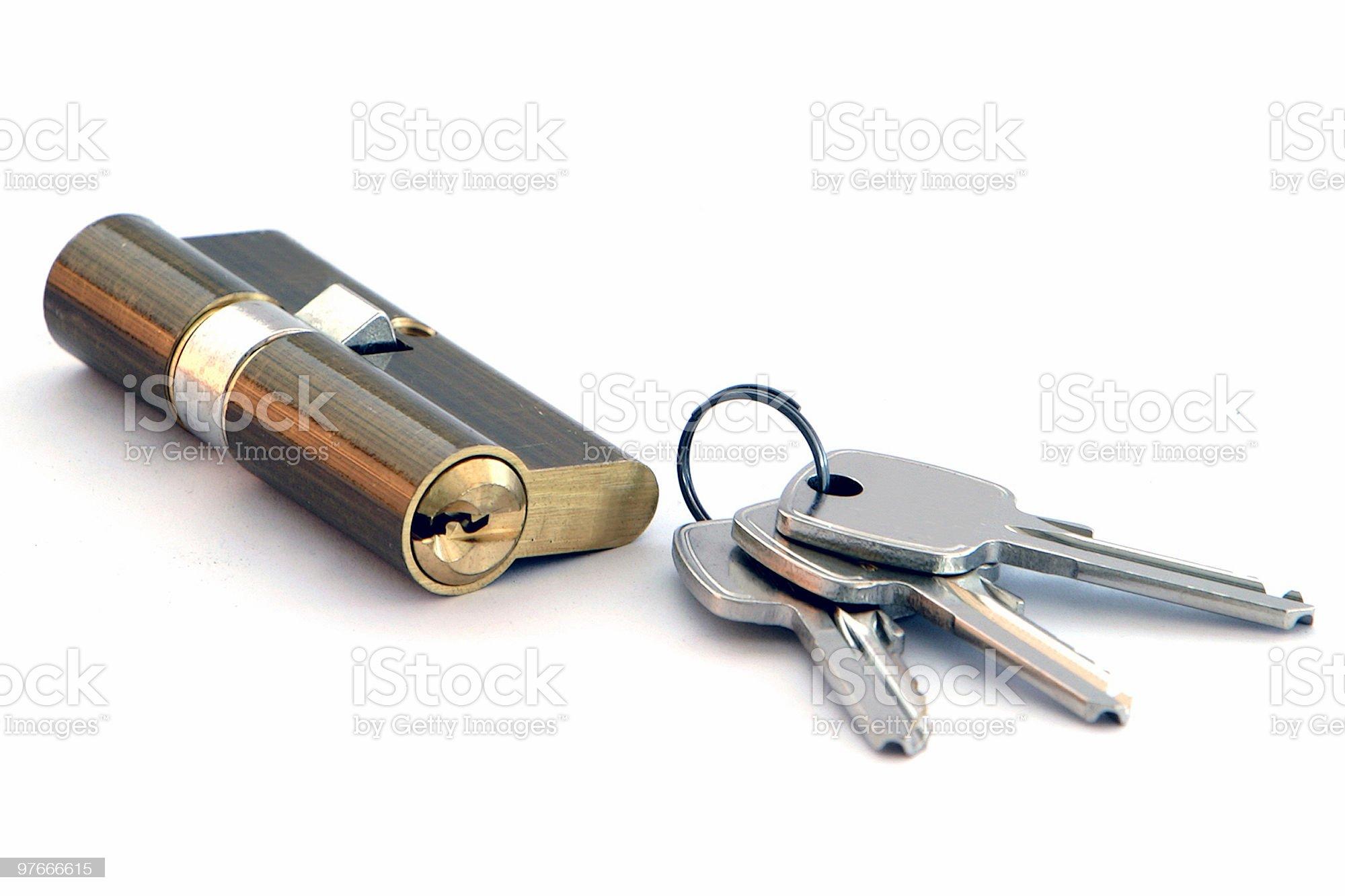 key & lock royalty-free stock photo
