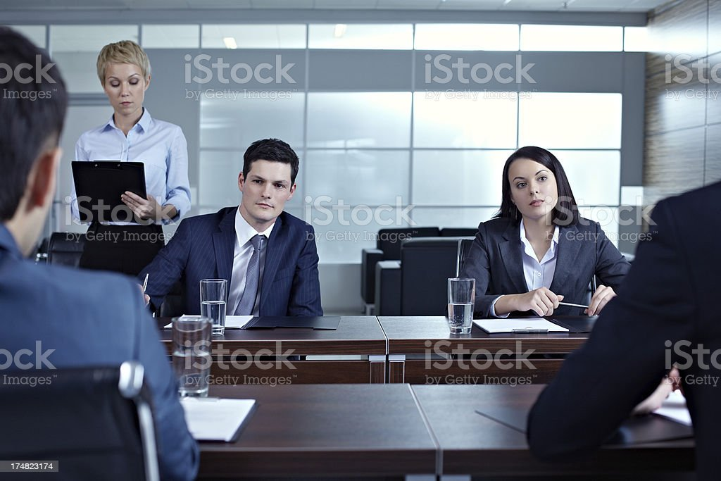 Key meeting royalty-free stock photo