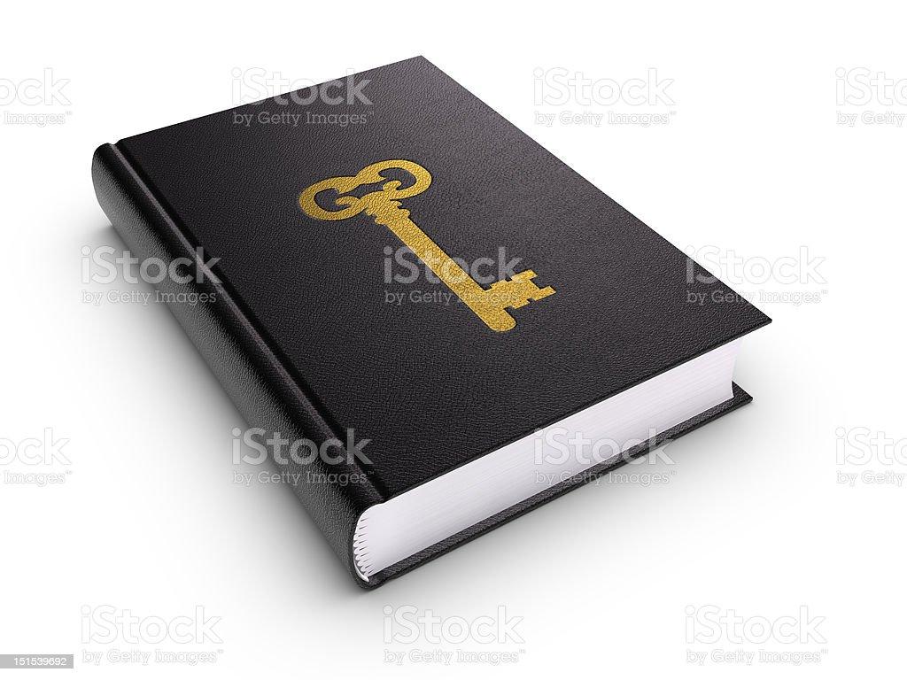 Key of Learning (isolated) royalty-free stock photo