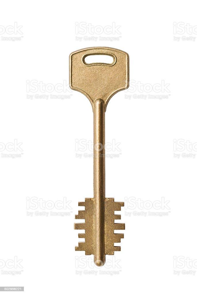 key on a white background stock photo