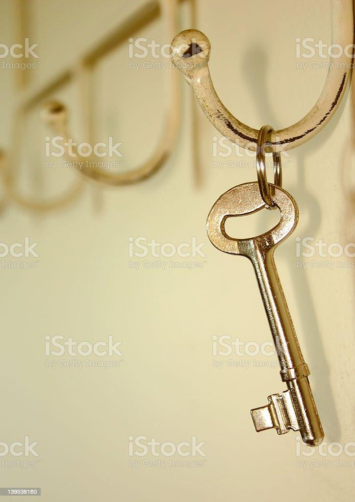 Key on Hook royalty-free stock photo